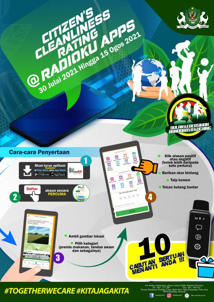 Citizen Cleanliness Rating @ RadioKU Apps  Jom sertai isi borang penilaian warg…