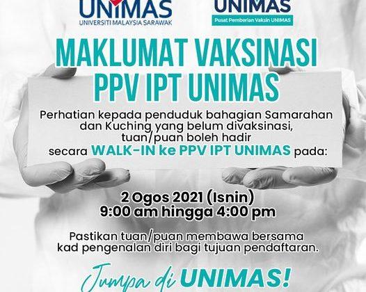 MAKLUMAT VAKSINASI PPV IPT UNIMAS
